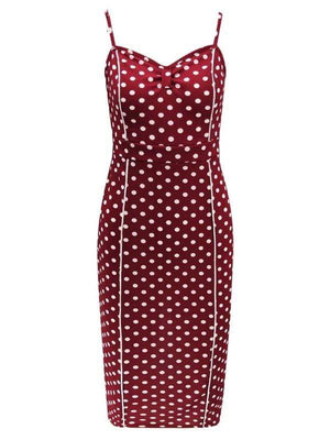 Sexy Dot Print Bodycon Midi Dress - Dresses - Zooomberg - Zoomberg