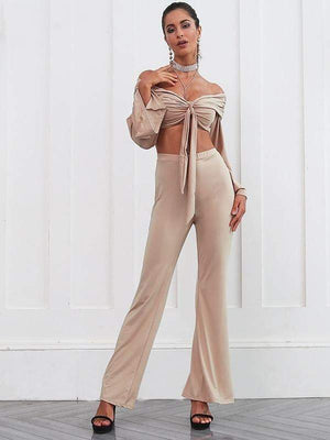 Two pieces flare sleeve jumpsuit - Jumpsuits - Zooomberg - Zoomberg