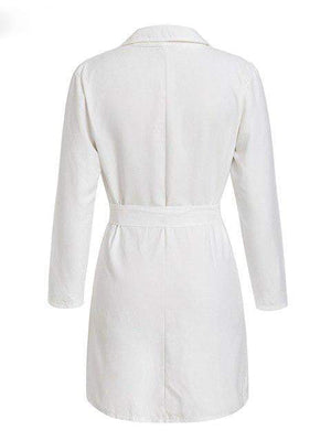 Button Belt White Trench Coat - Jackets - Zooomberg - Zoomberg