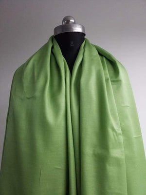 Parrot Green Plain Dyed Linen Satin Fabric - Zooomberg