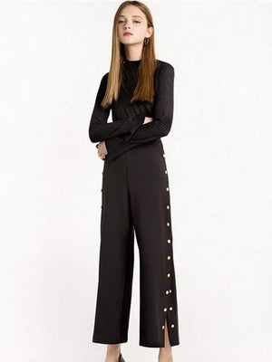 Solid High Waist Split Pant - Pants - Zooomberg - Zoomberg
