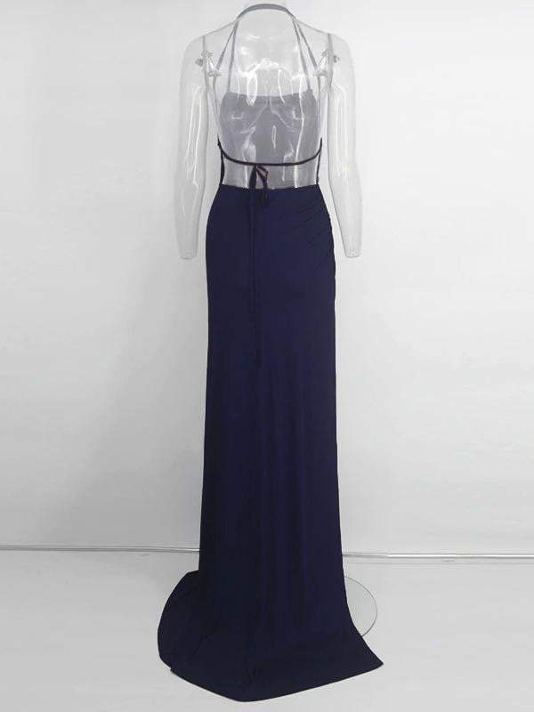 Elegant Backless Long Maxi Party Dress - zooomberg