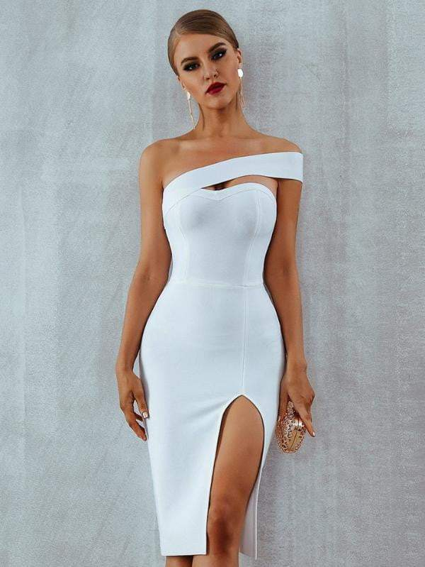 Bodycon Bandage Summer One Shoulder Party Dress - Dresses - Zooomberg - Zoomberg