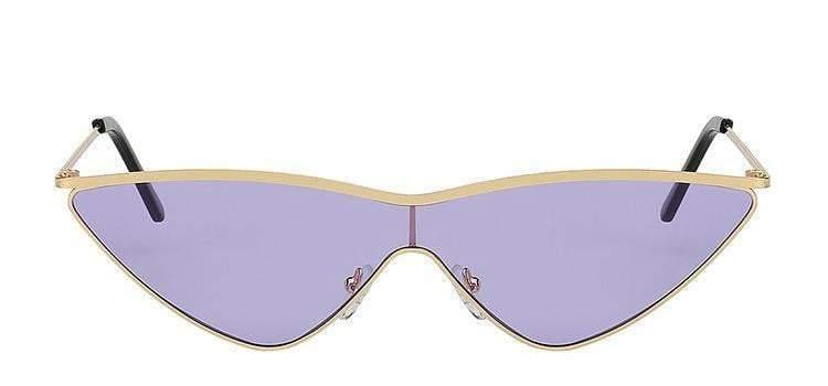 Purple Gold Meta Rim Sunglasses
