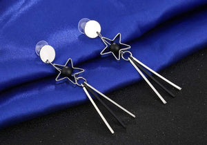 Get Star Tassels Acrylic Alloy Drop Earring with RS. 320.00
