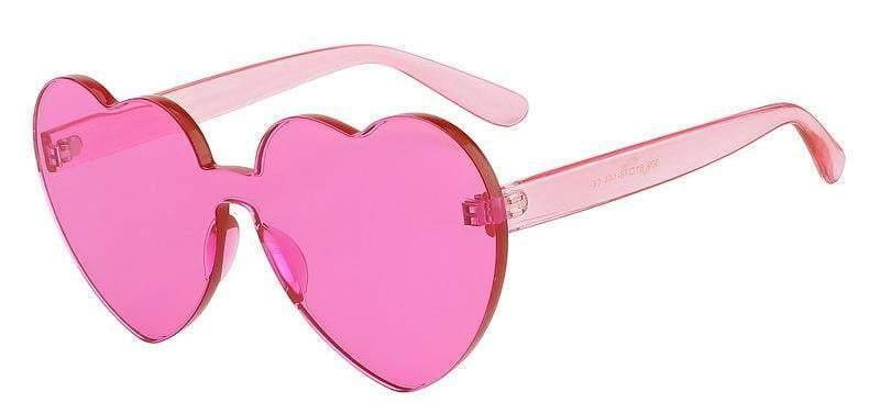236629e8db Buy Pink Poppy Color Heart Shaped Rimless Sunglasses for RS ...
