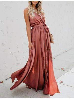 High Split Wrap Maxi Long Party Dress - Dresses - Zooomberg - Zoomberg