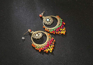 Get Bohemian Tassel Earrings with RS. 790.00