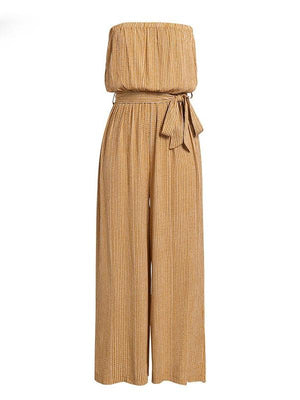 Shoulder Elegant Sashes Jumpsuit - Jumpsuits - Zooomberg - Zoomberg