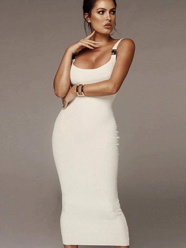 Elegant Sleeveless Strap Long Maxi Women Party Dress