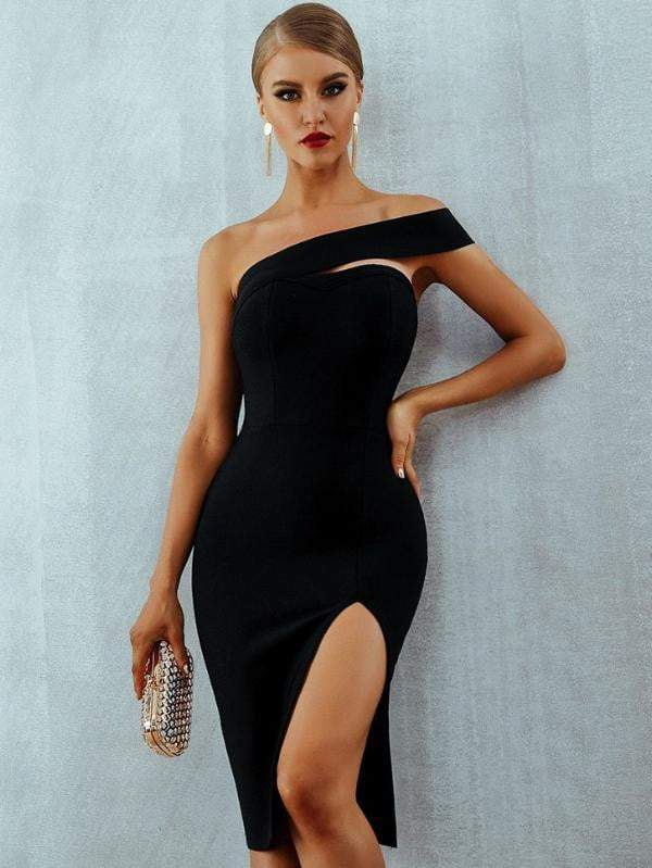 Bodycon Bandage Summer One Shoulder Party Dress