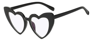 Clear Glass Oversized Vintage Heart Shaped Sunglasses - Sunglasses - Zooomberg - Zoomberg