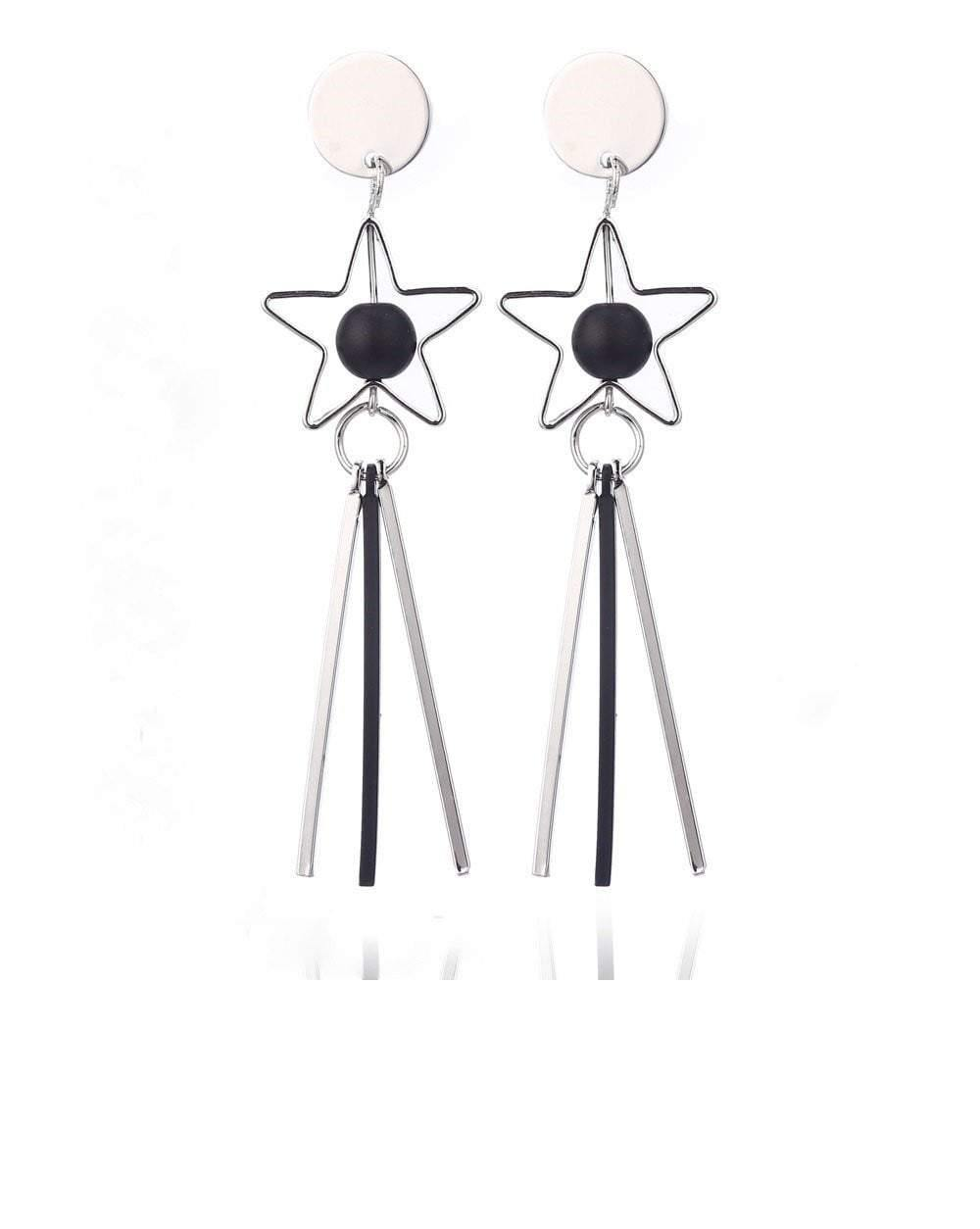 Star Tassels Acrylic Alloy Drop Earring - zooomberg