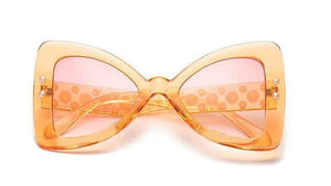 Get Orange Triangle Pearl Frame Sexy Cat Eye Sunglasses with RS. 894.00
