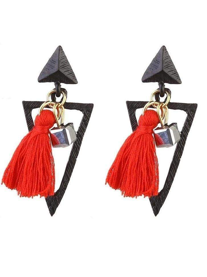 Long Tassels Drop Earrings - zooomberg