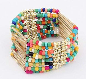 Get Boho Rainbow Beaded Bracelet with RS. 594.00