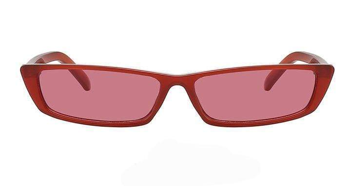 Red Rectangle Cateye Sunglasses