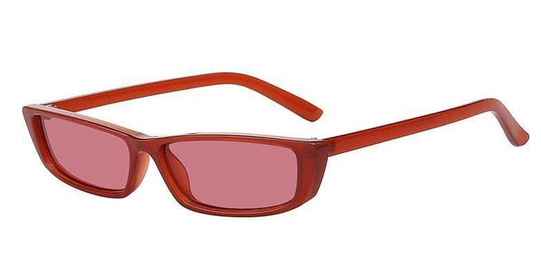 Red Rectangle Cateye Sunglasses - zooomberg