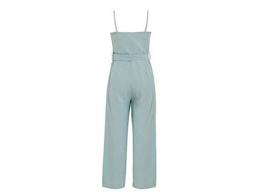 Spaghetti Strap Sash Belt Women Long Jumpsuit - Jumpsuits - Zooomberg - Zoomberg