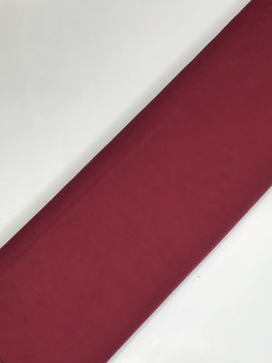 Cotton Poplin Plain Dyed Maroon Fabric (Width - 58 inches)