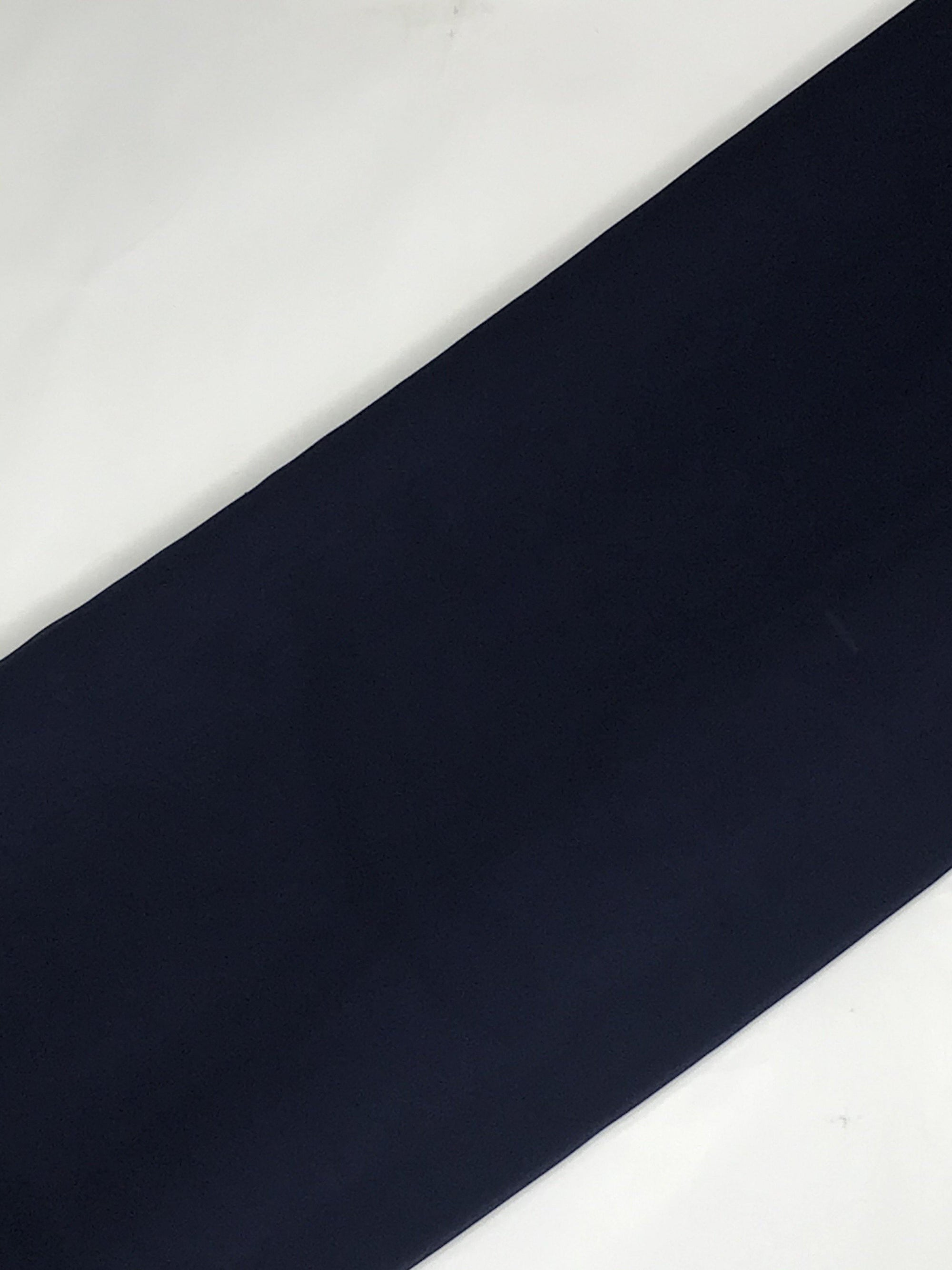 Navy Blue Georgette Plain Dyed Fabric (Width - 58 inches)