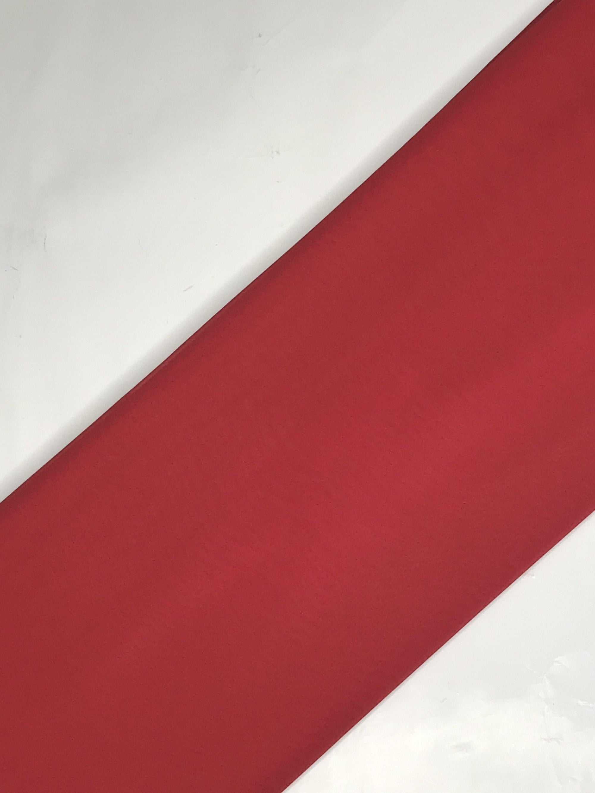 Red Georgette Plain Dyed Fabric (Width - 58 inches)