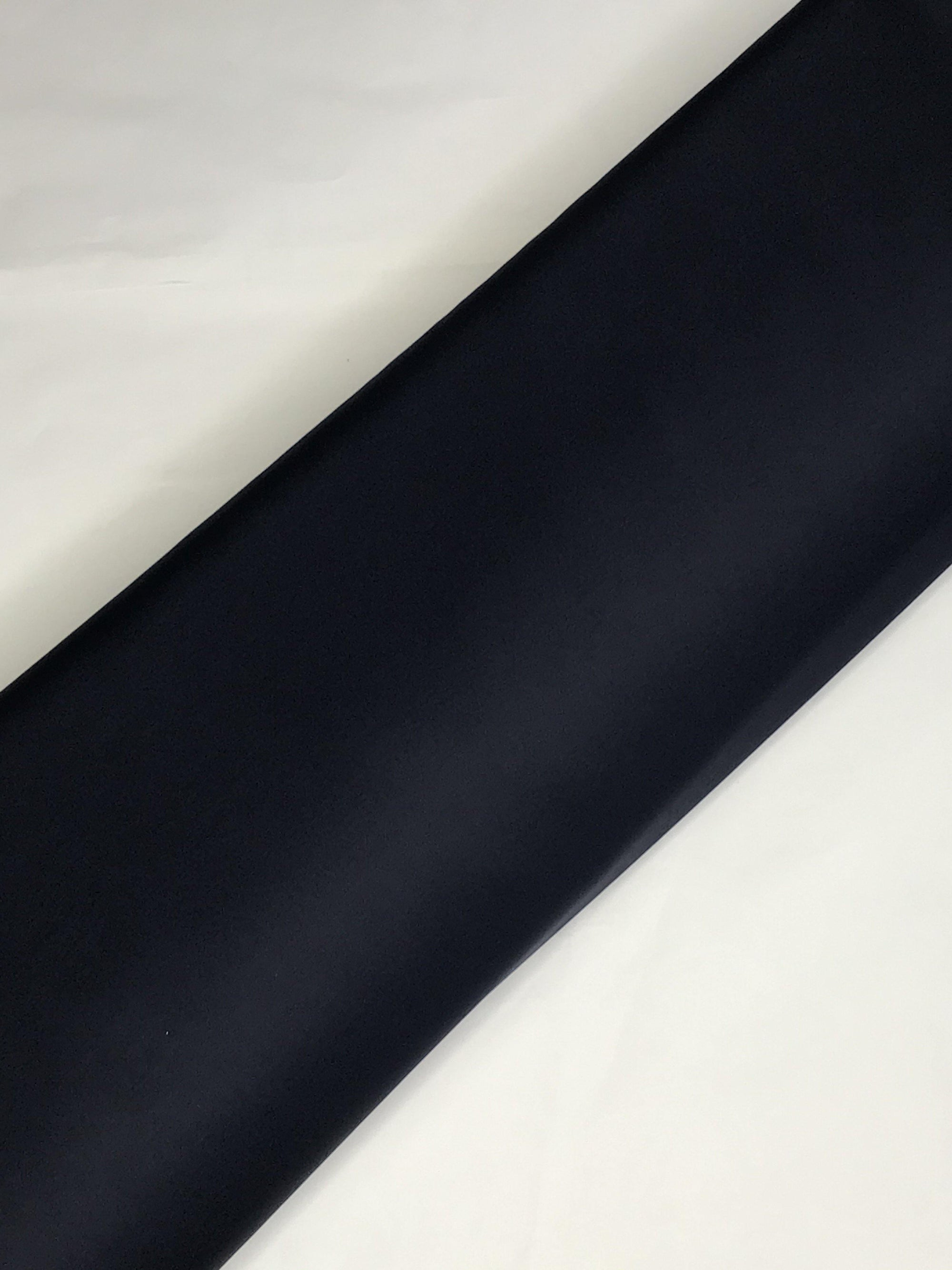 Navy Blue Imported Knitted Stretchable Scuba Fabric (Width - 58 Inches)