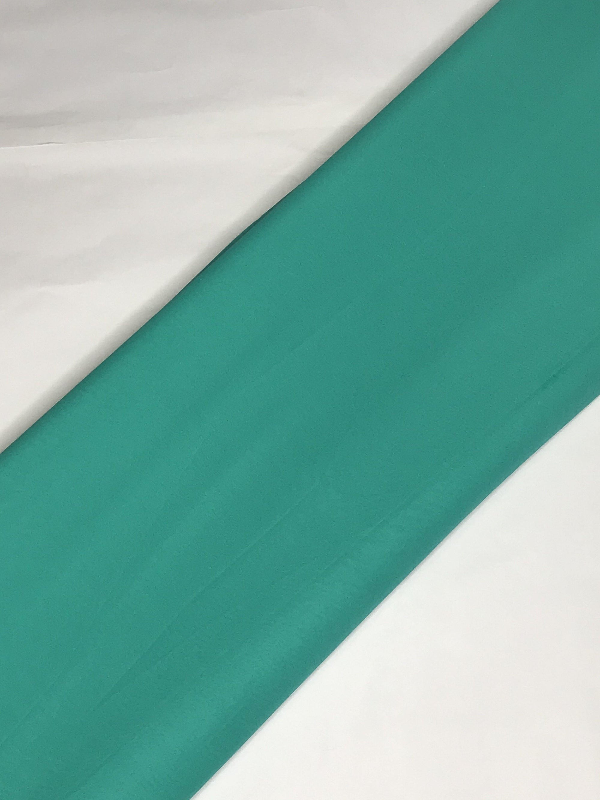 Aqua Blue Georgette Plain Dyed Fabric (Width - 44 inches)