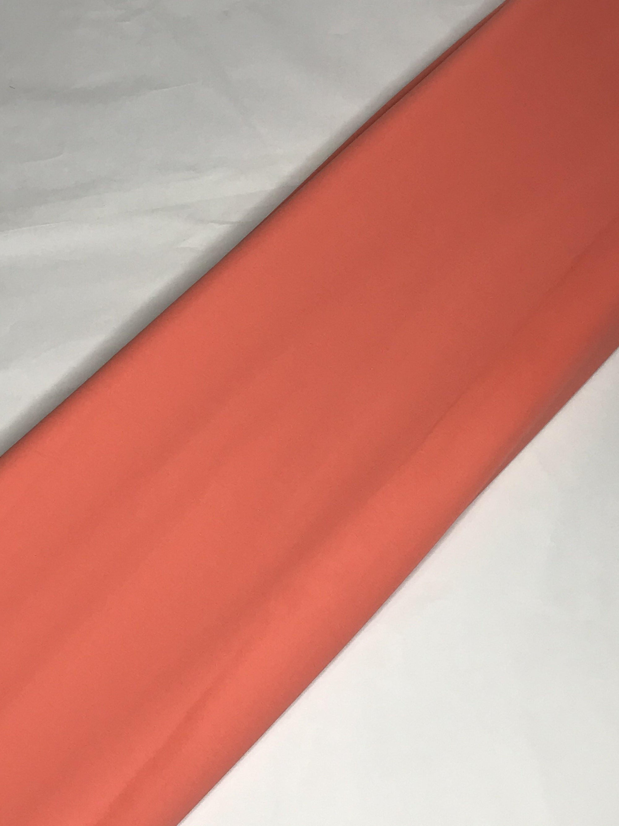 Coral Georgette Plain Dyed Fabric (Width - 44 inches)