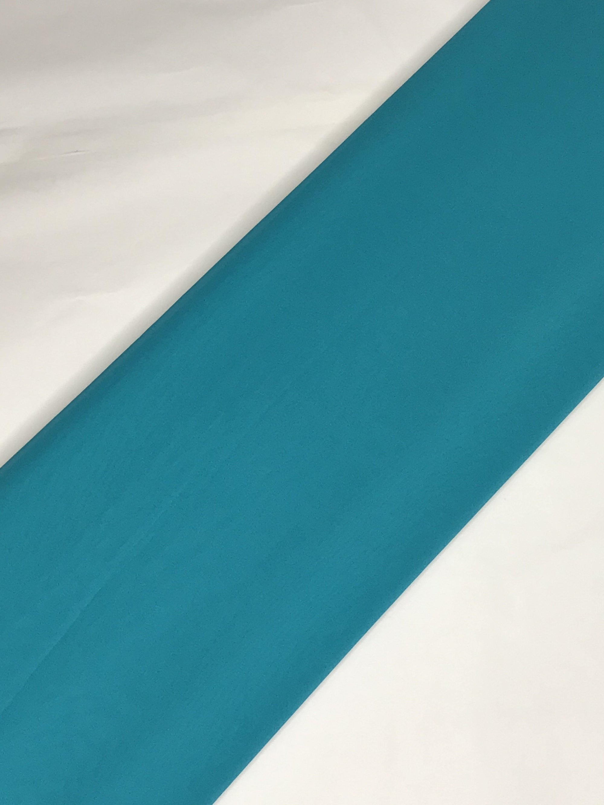 Blue Georgette Plain Dyed Fabric (Width - 44 inches)