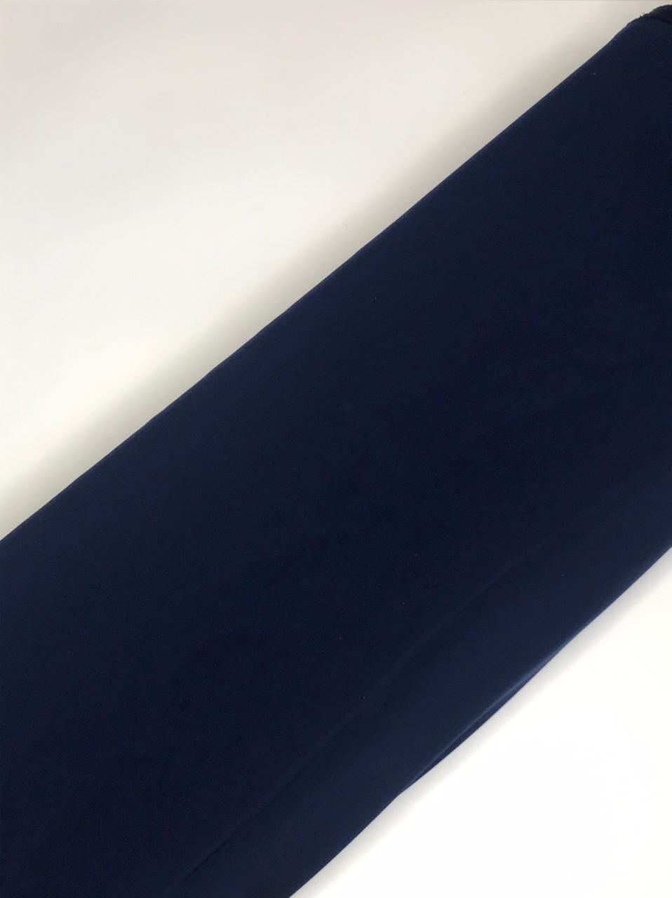 Imported Mahagony Navy Blue Flowy Fabric (Width - 58 Inches)