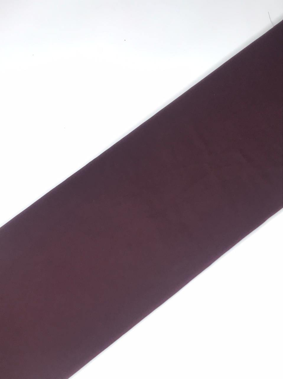 Imported Mahagony Wine Flowy Fabric (Width - 58 Inches)