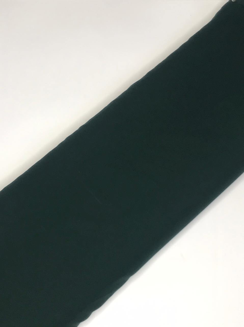 Imported Mahagony Emerald Green Flowy Fabric (Width - 58 Inches)