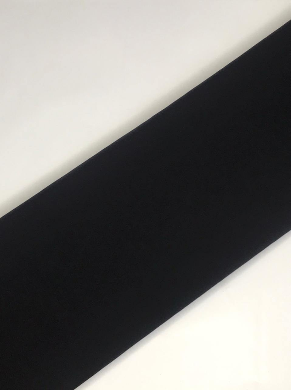 Imported Black Thick Moss Fabric (Width - 58 Inches)