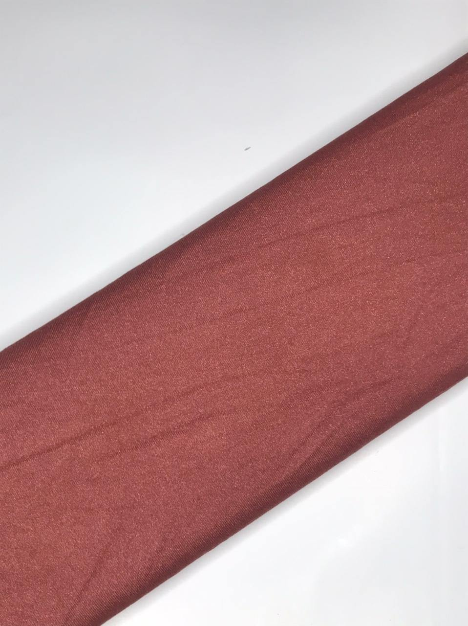 Imported Knitted Stretchable Pink Moss Sparkle Fabric (Width - 58 Inches)