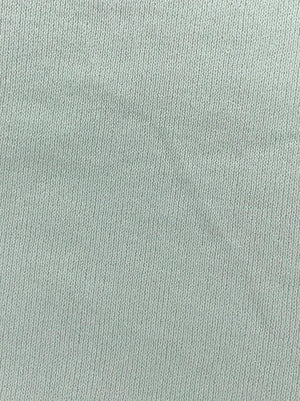 Imported Knitted Stretchable White Moss Sparkle Fabric (Width - 58 Inches)