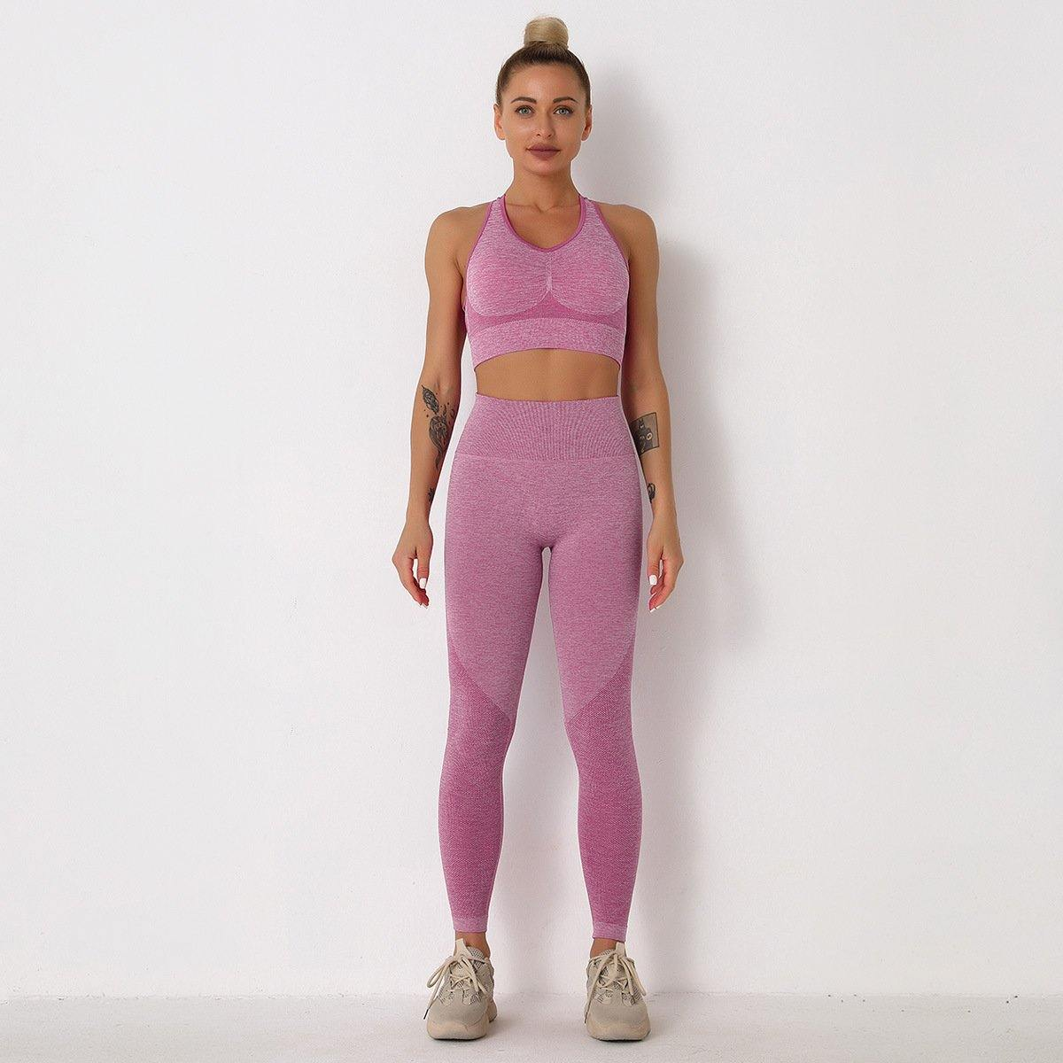 Seamless Knitted Yoga Active Wear Set