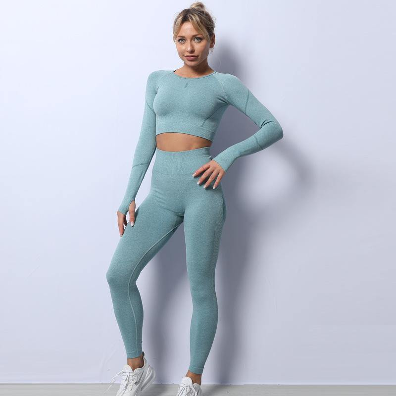 Seamless Knitted Breathable Workout Suit