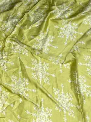 (Cut Piece - 3 Mtrs)Cotton Satin Printed Fabric
