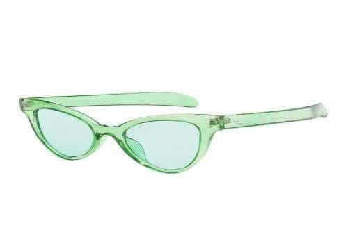 Green Jelly Cat Eye Sunglasses - Sunglasses - Zooomberg - Zoomberg