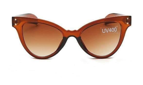 Brown Jelly Cat Eye Sunglasses