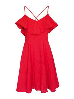 Elegant V-Neck Women Summer Dress - Dresses - Zooomberg - Zoomberg