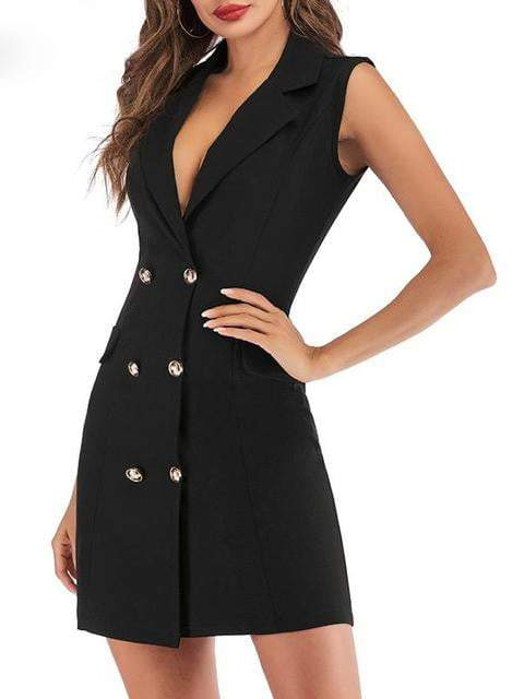 Double Breasted Blazer Dress - zooomberg