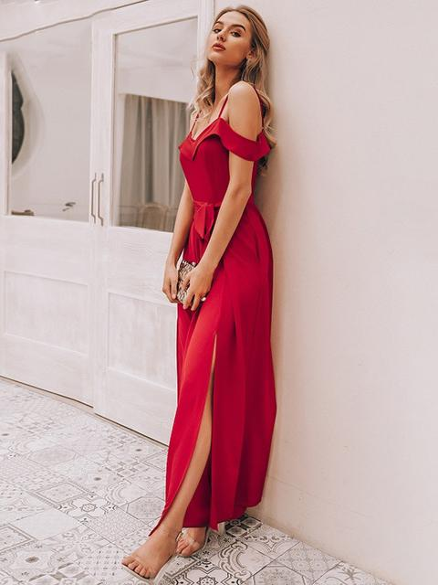 Off Shoulder High Waist Wide Leg Jumpsuit - zooomberg