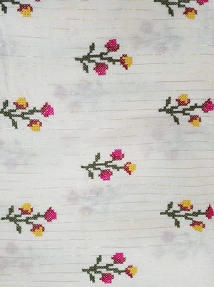 Cotton Embroidery Fabric with Gold Lurex - Zooomberg