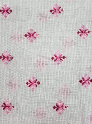 Cotton Kota Checks Embroidery Fabric - Zooomberg