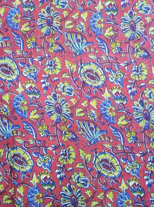 Floral Pattern Digital Printed Viscose Muslin Fabric - Zooomberg