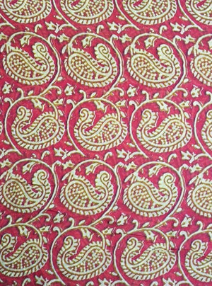 Paisley Pattern Digital Printed Viscose Muslin Fabric - Zooomberg