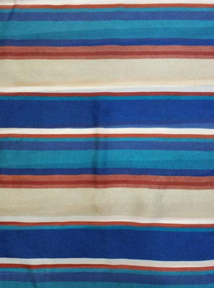 Satin Georgette Stripes Digital Printed Multi Color Fabric - Zooomberg