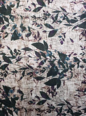 Fancy Digital Tropical Leaves Printed Fabric
